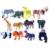 Oyuncak Hayvan Seti Vahşi Mini Hayvanlar 12 Li Animal Etkinlik