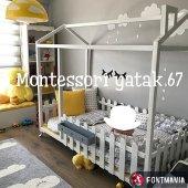 Montessori Yatak Beyaz Ayakli En Uygun Fiyata