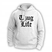 Thug Lıfe Beyaz Sweatshırt