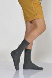 Düz Çift Taban Erkek Soket Çorabı Koyu Gri E Art233