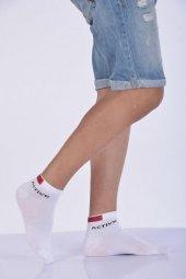 ıdilfashion Erkek Dikişsiz Yazlık Patik Çorabı Beyaz E Art23
