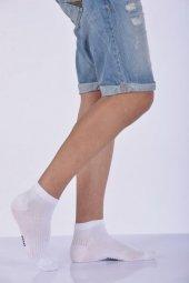 Dikişsiz Yazlık Erkek Patik Çorabı Beyaz E Art234
