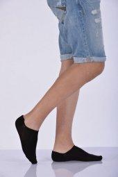 ıdilfashion Erkek Düz Dört Topuk Babet Çorabı Siyah E Art253