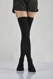 ıdilfashion Kadın Dizüstü Çorabı Siyah B Art005