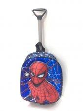 Haeja Spiderman Mavi Erkek Çocuk Çekçekli Sırt Çantası