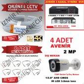 2 Yıl Garantili Dvr 4 Camera 100mt Kablo 8 Hazır Bnc Kamera Seti