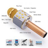 Bluetooth Karaoke Mikrofon Usb Sd Kart Radyo Kaliteli Üründür