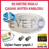 50 Metre Fullhd 3d 4k Çanak Anten Kablosu Kaliteli Rg6