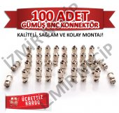 Metal Kamera Bnc Konnektörü Kaliteli Sağlam Kolay Montaj