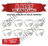 8li Cctv Ahd Kamera Güvenlik Sistemleri Bnc Power Jak Kablosu