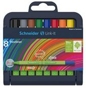 Schneider Link It Bio Plastik Fineliner Tükenmez Kalem 0.4 Mm 8li