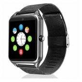 Z60 Paslanmaz Çelik Bluetooth Akıllı Saat Android İos Uyumlu