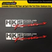 Carmaniaks Universal Hks Power And Sports New Tech Sticker Aluminyum Arma