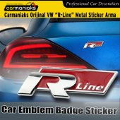 Vw R Line Metal Sticker Arma 2renk Crm9030