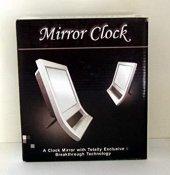 Aynalı Büyük Saat Masa Üstü Aynalı Çalar Saat Uyandırma Saat Alarmlı Saat Pilli Ve Şarjlı