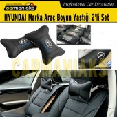 Carmaniaks Hyundai Marka Deri Boyun Yastığı 2li Set