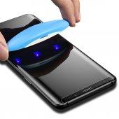 Samsung Galaxy S8 Plus Full Uv Glue 3d Curved Liquid Sıvı Temperl