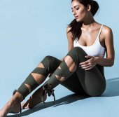 Fiyonklu Günlük (Yoga Fitness Pilates Koşu) Sporcu Taytı Ps 2087