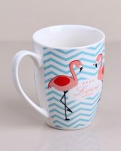 Mavi Modelli Flamingo Desenli Kupa Bardak