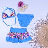 Sam Kız Çocuk 3 Parça Bikini Mayo 23005