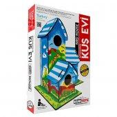 Kum Toys Boyanabilir 3 Lü Kuş Evi 21x18x29cm Akrilik Boya Hediyel