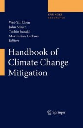 Handbook Of Climate Change Mitigation (4 Volumes)