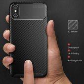 Iphone Xs Max 6.5 Kılıf Negro Silikon Kapak Karbon...