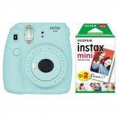 Fujifilm Instax Mini 9 Açık Mavi Fotoğraf Makinesi & 20li Film