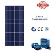 165w Watt Polikristal Güneş Paneli Solar Panel