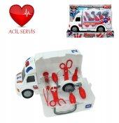 Sesli Işıklı Ve Çantalı Ambulans 9 Parça Doktor Se...