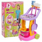 Dede Minnie Mouse Oyuncak Temizlik Arabası Fırçalı Kovalı Oyuncak Seti Kız Çocuk Evcilik Oyuncakları