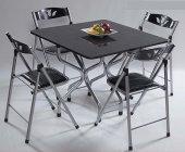 Siyah Katlanabilir Masa Sandalye Takımı