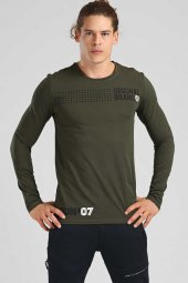 Tommy Life Nokta Desenli Haki Erkek Sweatshirt