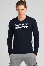 Tommy Life Biyeli Yazı Baskılı Lacivert Erkek Sweatshirt