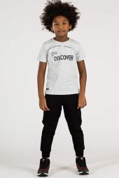 Tommy Life Dıscover Yazılı Gri Çocuk Tshirt