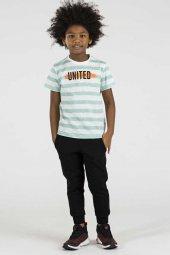 Tommy Life Çizgili United Mint Yeşili Çocuk Tshirt
