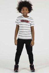 Tommy Life Çizgili United Siyah Çocuk Tshirt