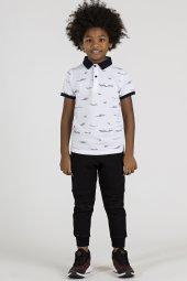Tommy Life Baskılı Beyaz Polo Yaka Çocuk Tshirt