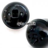 Sıva Üstü Klasik Anahtar Priz, Siyah Renk Eski Model Tekli Anahtar Priz