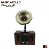 Nostaljik Gramafon B8 Bluetooth Usb Sd Cart Müzik Kutusu