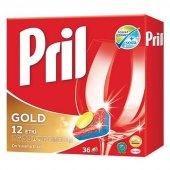 Pril Gold 12 Etki Bulaşık Makinası Tableti 36 Adet...