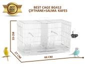 Best Cage Bölmeli Salma, Çifthane Beyaz Kafes 44x27x33 Cm