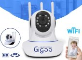 Gigoo Hd 360 � 3 Antenli Hareket Sensörlü Ip Bebek Ve Güvenlik Kamerası