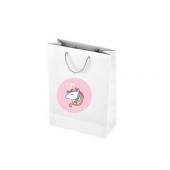 Cici Unicorn Beyaz Karton Çanta 10lu 10x14 Cm