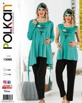 Polkan 13068 Bayan 3lü Hamile Lohusa Pijama Takımı