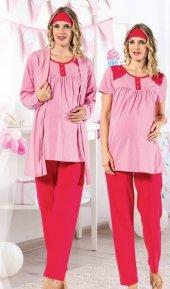 Polkan 13080 Bayan 3lü Hamile Lohusa Pijama Takımı