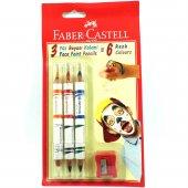 Faber Castell 3&#039 Lü 6 Renk Yüz Boyası Kalemleri
