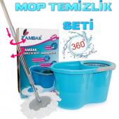 Mop Temizlik Kovası Mıcrofiber Temizlik Seti Zambak Mop