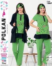 Polkan 13049 Bayan 3lü Hamile Lohusa Pijama Takımı