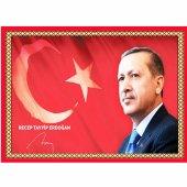 50 Cm X 70 Cm Tablo Halı Lider Recep Tayyip Erdoğan